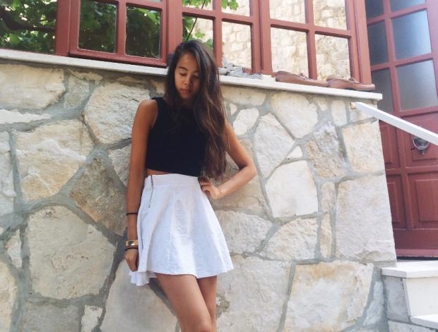 La petite jupe blanche